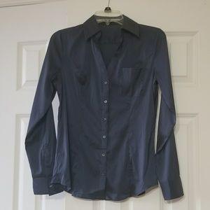 NWOT Express Satin Portofino Shirt